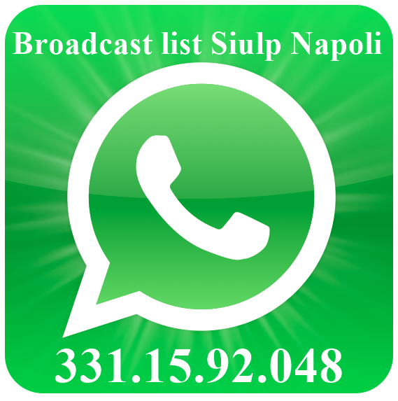 Broadcast list WhatsApp Siulp Napoli